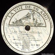 Discos de pizarra: DISCOS 78 RPM - MIGUEL DEL MOLINA - ORQUESTA - FOLKLORE CASTELLANO - ZAMBRA - MALDITA SEAS - PIZARRA. Lote 142388430
