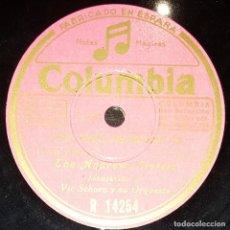 Discos de pizarra: DISCOS 78 RPM - THE ANDREWS SISTERS - ORQUESTA - VIC SCHOEN - FOXTROT - LAS TRES HERMANAS - PIZARRA. Lote 142391802