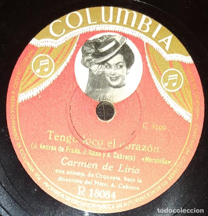Discos de pizarra: DISCOS 78 RPM - CARMEN DE LIRIO - ORQUESTA - COLUMBIA FOTO - EN LA NOCHE DE BODA - PIZARRA - Foto 2 - 142393358