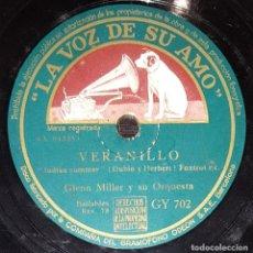Discos de pizarra: DISCOS 78 RPM - GLENN MILLER - ORQUESTA - FOXTROT - VERANILLO - DESCUIDADO - PIZARRA. Lote 142403470