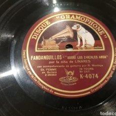Discos de pizarra: DISCOS 78 RPM NIÑA DE LINARES. Lote 142593598