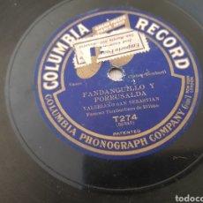 Discos de pizarra: DISCOS 78 RPM VALERIANO SAN SEBASTIAN. Lote 142769376