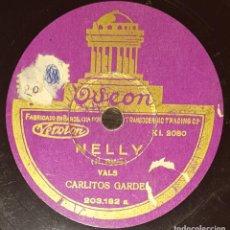 Discos de pizarra: DISCOS 78 RPM - CARLOS GARDEL - TANGO - NELLY - AQUEL TAPADO DE ARMIÑO - PIZARRA. Lote 143134310