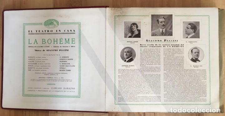 Discos de pizarra: EXCEPCIONAL OPERA COMPLETA LA BOHÈME DE GIACOMO PUCCINI, 13 DISCOS DE PIZARRA LA VOZ DE SU AMO - Foto 2 - 143294078