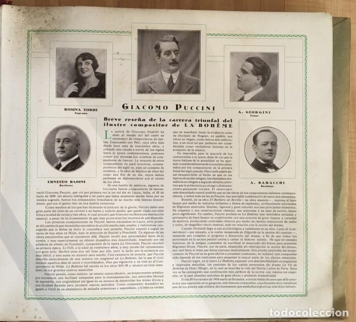 Discos de pizarra: EXCEPCIONAL OPERA COMPLETA LA BOHÈME DE GIACOMO PUCCINI, 13 DISCOS DE PIZARRA LA VOZ DE SU AMO - Foto 4 - 143294078