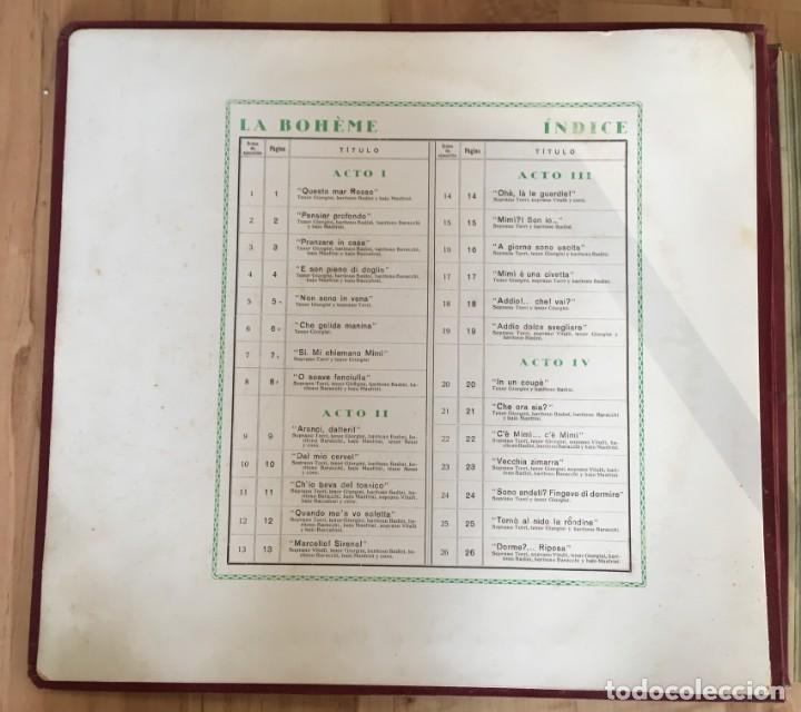 Discos de pizarra: EXCEPCIONAL OPERA COMPLETA LA BOHÈME DE GIACOMO PUCCINI, 13 DISCOS DE PIZARRA LA VOZ DE SU AMO - Foto 5 - 143294078
