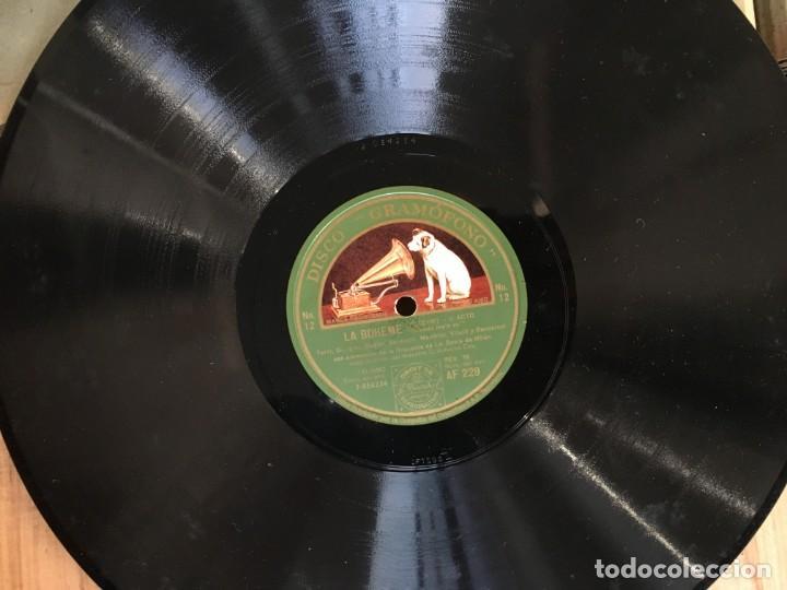 Discos de pizarra: EXCEPCIONAL OPERA COMPLETA LA BOHÈME DE GIACOMO PUCCINI, 13 DISCOS DE PIZARRA LA VOZ DE SU AMO - Foto 8 - 143294078