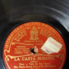 Discos de pizarra: DISCO PIZARRA. LA CASTA SUSANA. Lote 143561792