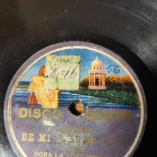 Discos de pizarra: DISCO PIZARRA. DORA LA CORDOBESITA.. Lote 143562637