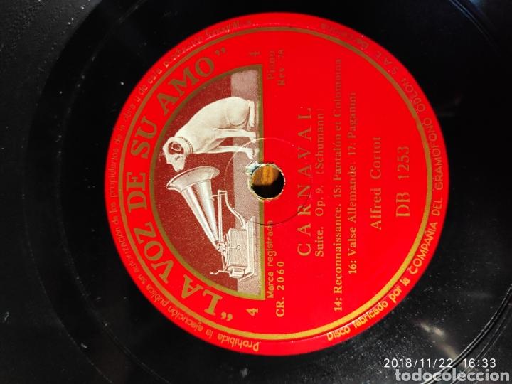 DISCO PIZARRA. ALFRED CORTOT. CARNAVAL (Música - Discos - Pizarra - Clásica, Ópera, Zarzuela y Marchas)