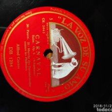 Discos de pizarra: DISCO PIZARRA. ALFRED CORTOT. CARNAVAL. Lote 143564578