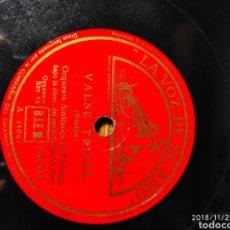 Discos de pizarra: DISCO PIZARRA. VALSE TRISTE.. Lote 143565130