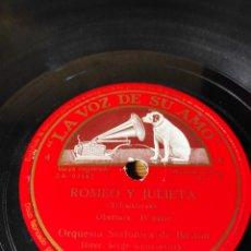Discos de pizarra: DISCO PIZARRA. ROMEO Y JULIETA. Lote 143565346