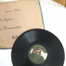 Discos de pizarra: ANTIGUO DISCO DE PIZARRA GRAMOLA- CARMEN FLORES - MI CHISPERA Y LA BUENAVENTURA. Lote 143925242