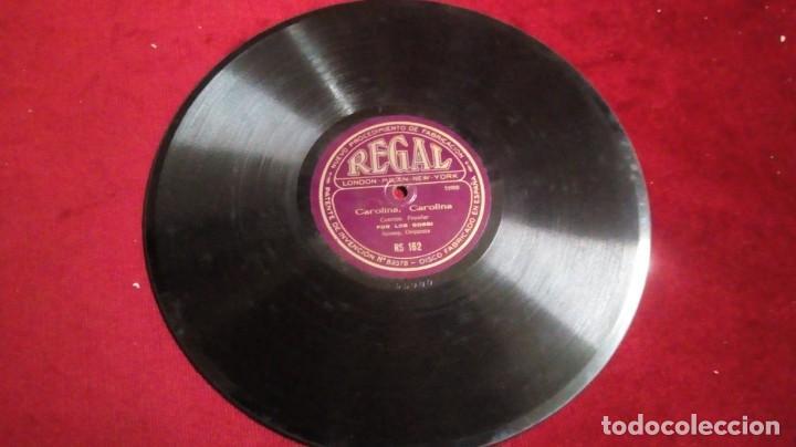 DISCO DE PIZARRA REGAL - CAROLINA, CAROLINA/DISCO DE LA RISA (Música - Discos - Pizarra - Otros estilos)