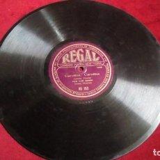Discos de pizarra: DISCO DE PIZARRA REGAL - CAROLINA, CAROLINA/DISCO DE LA RISA. Lote 143968886