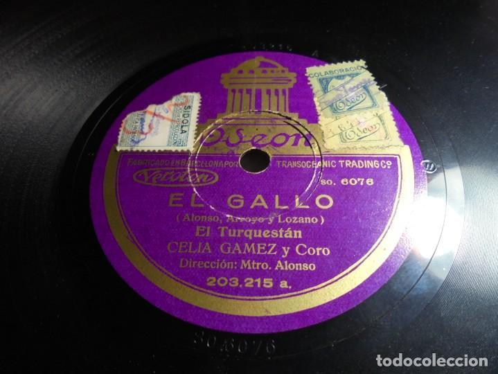 Discos de pizarra: magnifico antiguo disco de pizarra EL GALLO cancion java de celia gomez y lopez heredia - Foto 2 - 144408614
