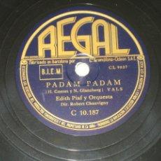 Discos de pizarra: EDITH PIAF - PADAM - LA CHANSON DE CATHERINE . Lote 146163318