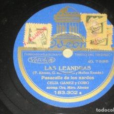 Discos de pizarra: CELIA GAMEZ - LAS LEANDRAS . Lote 146166086