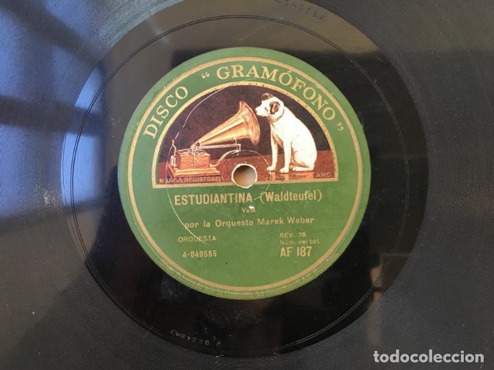 Discos de pizarra: DISCO DE PIZARRA GRAMOFONO, ESTUDIANTINA (WALDTEUFEL) LA VIUDA ALEGRE (LEHAR), 2 CARAS - Foto 3 - 146196810
