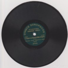Discos de pizarra: DISCO 78 RPM - ZONOPHONE 18 CM - VICTOR LEJAL - PARIS - LA SCALA - LE SABRE DU COLONEL - PIZARRA. Lote 146215598