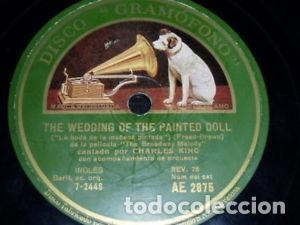 DISCO 78 RPM - GRAMOFONO - CHARLES KING - BROADWAY MELODY - JAZZ - PIZARRA (Música - Discos - Pizarra - Jazz, Blues, R&B, Soul y Gospel)