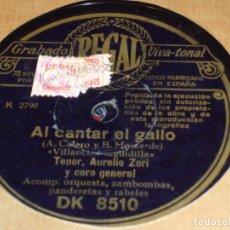 Discos de pizarra: DISCO DE PIZARRA.VILLANCICOAL CANTAR EL GALLO .REGAL. Lote 146291410