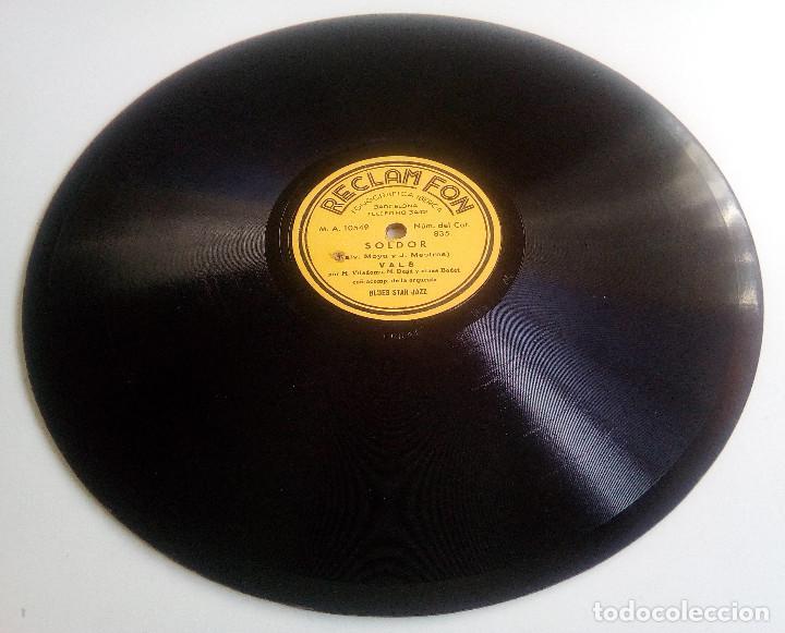 Discos de pizarra: DISCO DE PIZARRA - PUBLICITARIO - RECLAM FON - SOLDOR - VALS - BLUE STAR JAZZ - RARÍSIMO - Foto 2 - 146416934