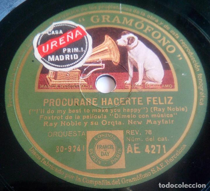 Discos de pizarra: DISCO DE PIZARRA - EL AMOR ES LO MÁS BELLO - PROCURARE HACERTE FELIZ - Foto 2 - 146419506