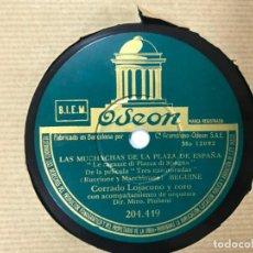 Discos de pizarra: DISCO PIZARRA DE CORRADO LOJACONO Y CORO, LAS MUCHACHAS DE LA PLAZA DE ESPAÑA (DEL FILM 3 ENAMORADA). Lote 146427410