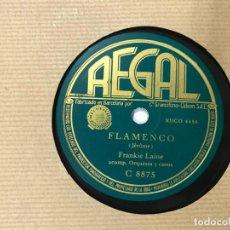 Discos de pizarra: DISCO PIZARRA FRANKIE LAINE, FLAMENCO/SI ME ABANDONAS DE LA PELICULA SOLO ANTE EL PELIGRO. Lote 146429518