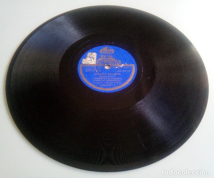 Discos de pizarra: DISCO DE PIZARRA - GITANA, GITANA (PASODOBLE) - DOÑA MARIQUITA (VALS) - PELÍCULA VIOLETAS IMPERIALES - Foto 3 - 146461118