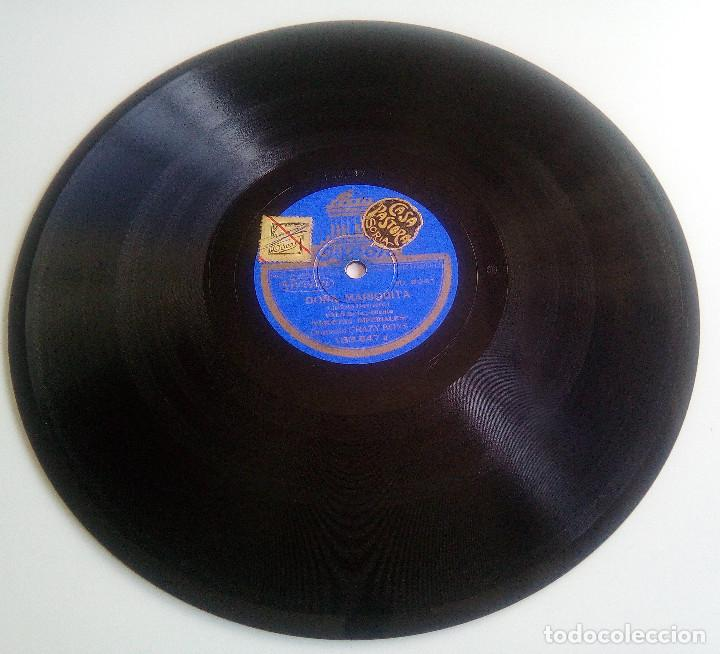 Discos de pizarra: DISCO DE PIZARRA - GITANA, GITANA (PASODOBLE) - DOÑA MARIQUITA (VALS) - PELÍCULA VIOLETAS IMPERIALES - Foto 4 - 146461118