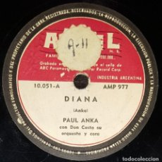 Discos de pizarra: DISCO 78 RPM - ARIEL - PAUL ANKA - ORQUESTA DON COSTA - DIANA - NO JUEGUES CON EL AMOR - PIZARRA. Lote 146860698