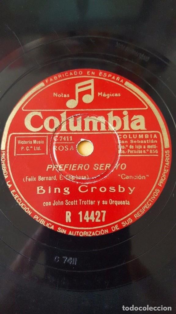 Discos de pizarra: DISCO 78 RPM - COLUMBIA - BING CROSBY - JOHN SCOTT TROTTER - EL EXPRESO DE SANTA FE - PIZARRA - Foto 2 - 146864626