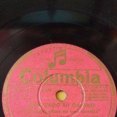 Disques en gomme-laque: DISCO 78 RPM - COLUMBIA - BING CROSBY - FILM - SIGUIENDO MI CAMINO - ORQUESTA - PIZARRA. Lote 146866098