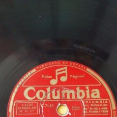 Discos de pizarra: DISCO 78 RPM - COLUMBIA - BING CROSBY - XAVIER CUGAT - ORQUESTA - LOS TRES CABALLEROS - PIZARRA. Lote 147036158