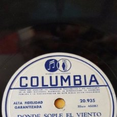 Discos de pizarra: DISCO 78 RPM - COLUMBIA - DORIS DAY - ORQUESTA - FILM - ERAMOS TAN FELICES - PIZARRA. Lote 147039278