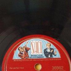 Discos de pizarra: DISCO 78 RPM - COLUMBIA - FRANK SINATRA - CENTENNIAL SUMMER - ALL THROUGH THE DAY - PIZARRA. Lote 147041426