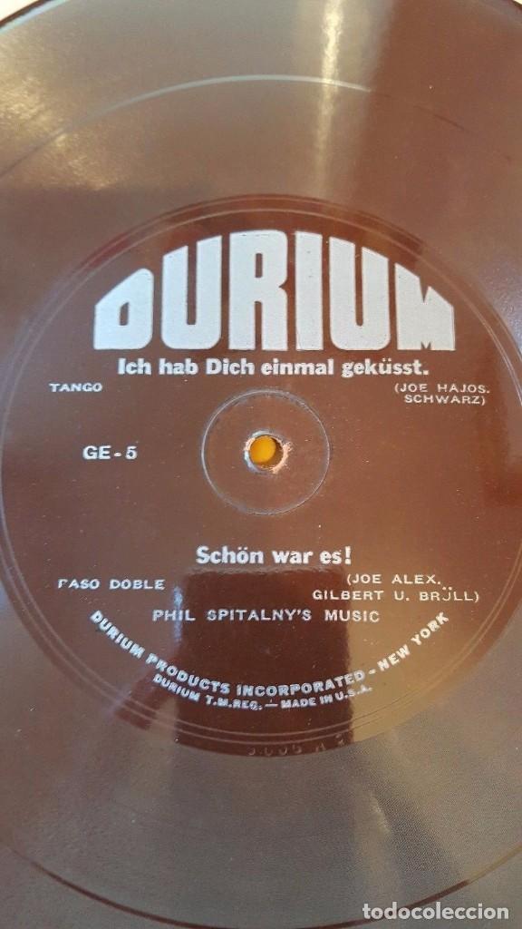 DISCO 78 RPM - DURIUM FLEXIBLE - PHIL SPITALNY´S MUSIC - SCHON WAR ES! - RARO - PIZARRA (Música - Discos - Pizarra - Jazz, Blues, R&B, Soul y Gospel)