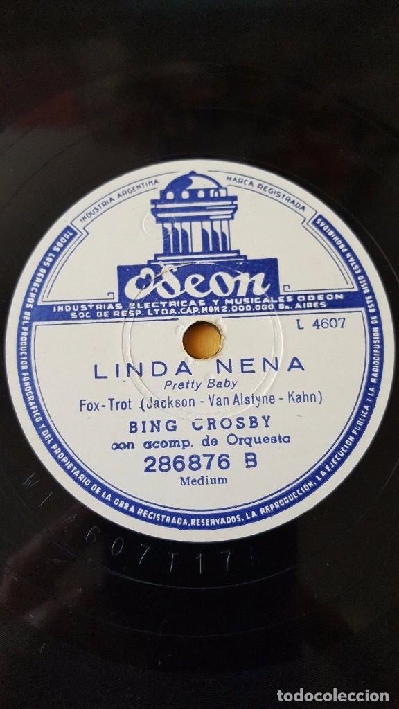Discos de pizarra: DISCO 78 RPM - ODEON - BING CROSBY - ORQUESTA - JINETES EN EL CIELO - LINDA NENA - PIZARRA - Foto 2 - 147056686