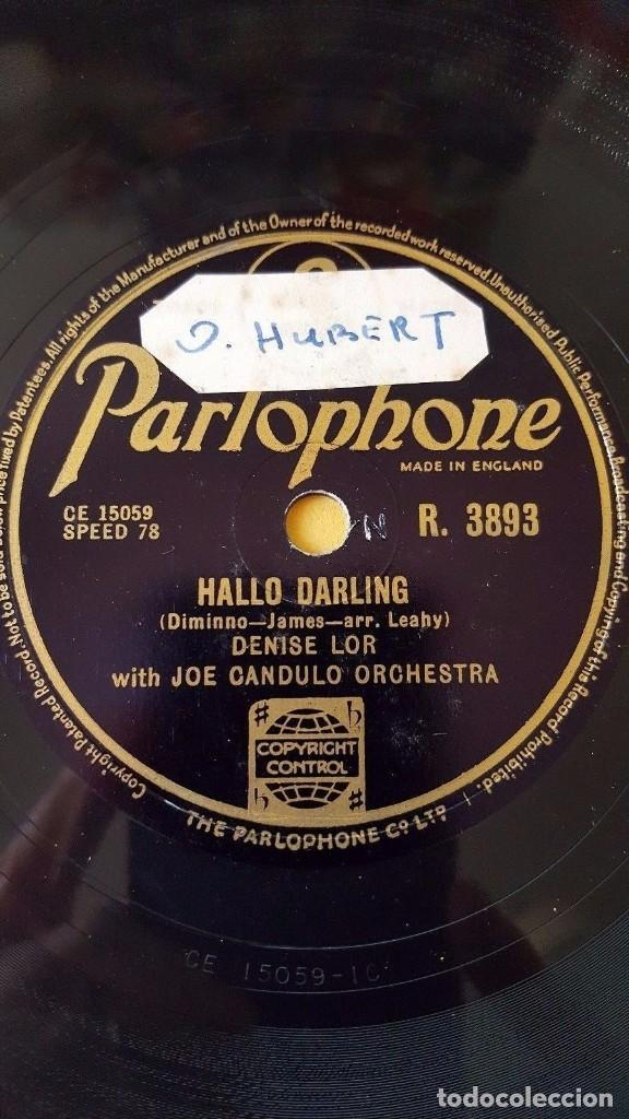 Discos de pizarra: DISCO 78 RPM - PARLOPHONE - DENISE LOR - JOE CANDULO ORQUESTA - IF GIVE MY HEART TO YOU - PIZARRA - Foto 2 - 147058106