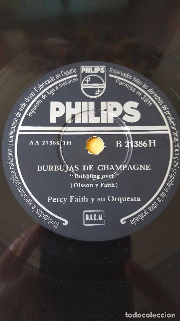 DISCO 78 RPM - PHILIPS - PERCY FAITH - ORQUESTA - BURBUJAS DE CHAMPAGNE - PIZARRA (Música - Discos - Pizarra - Jazz, Blues, R&B, Soul y Gospel)