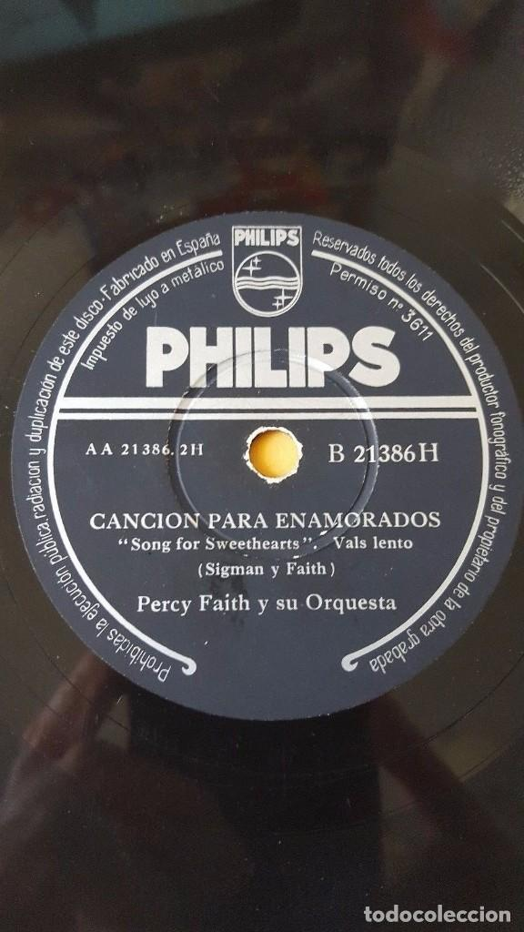 Discos de pizarra: DISCO 78 RPM - PHILIPS - PERCY FAITH - ORQUESTA - BURBUJAS DE CHAMPAGNE - PIZARRA - Foto 2 - 147132026