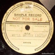 Discos de pizarra: DISCO 78 RPM - PHILIPS SAMPLE - ANONIMO - LIRICO - WE´LL GATHER LILACS - RARO - PIZARRA. Lote 147134710