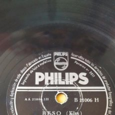 Discos de pizarra: DISCO 78 RPM - PHILIPS - TONI ARDEN - PERCY FAITH - ORQUESTA - BESO - NO ES INQUIETUD - PIZARRA. Lote 147135742