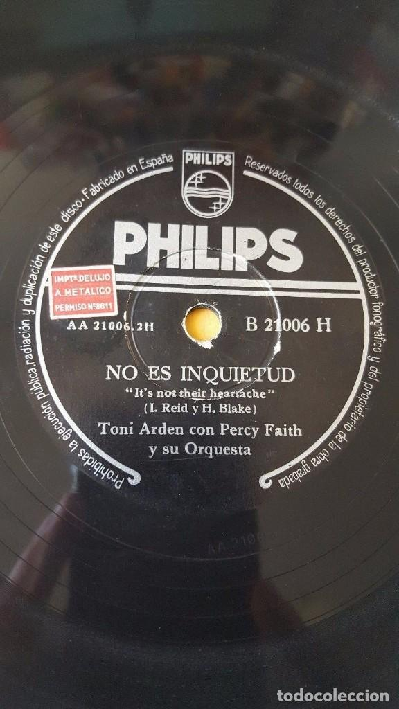 Discos de pizarra: DISCO 78 RPM - PHILIPS - TONI ARDEN - PERCY FAITH - ORQUESTA - BESO - NO ES INQUIETUD - PIZARRA - Foto 2 - 147135742