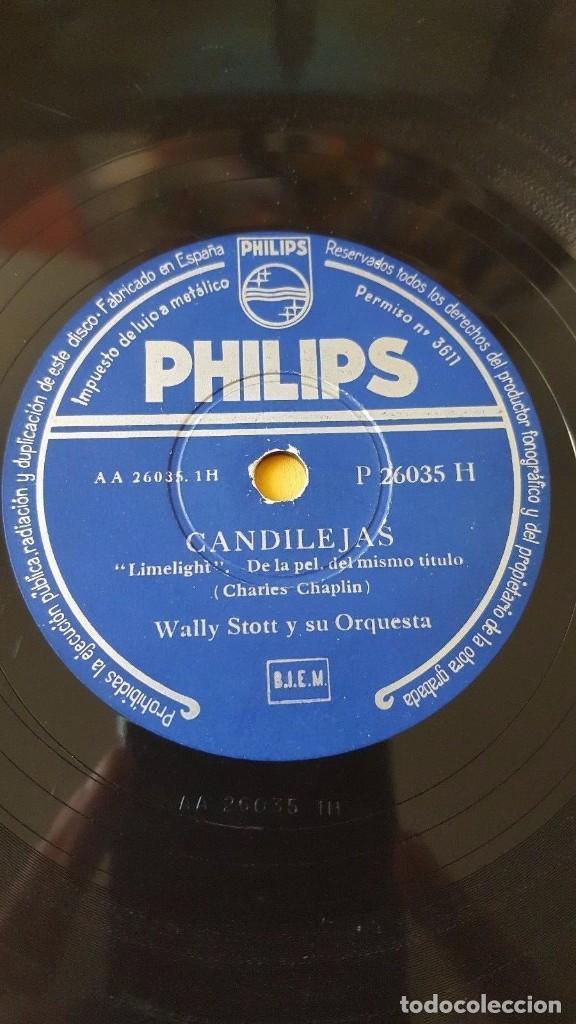 DISCO 78 RPM - PHILIPS - WALLY STOTT - ORQUESTA - FILM CHARLES CHAPLIN - CANDILEJAS - PIZARRA (Música - Discos - Pizarra - Jazz, Blues, R&B, Soul y Gospel)