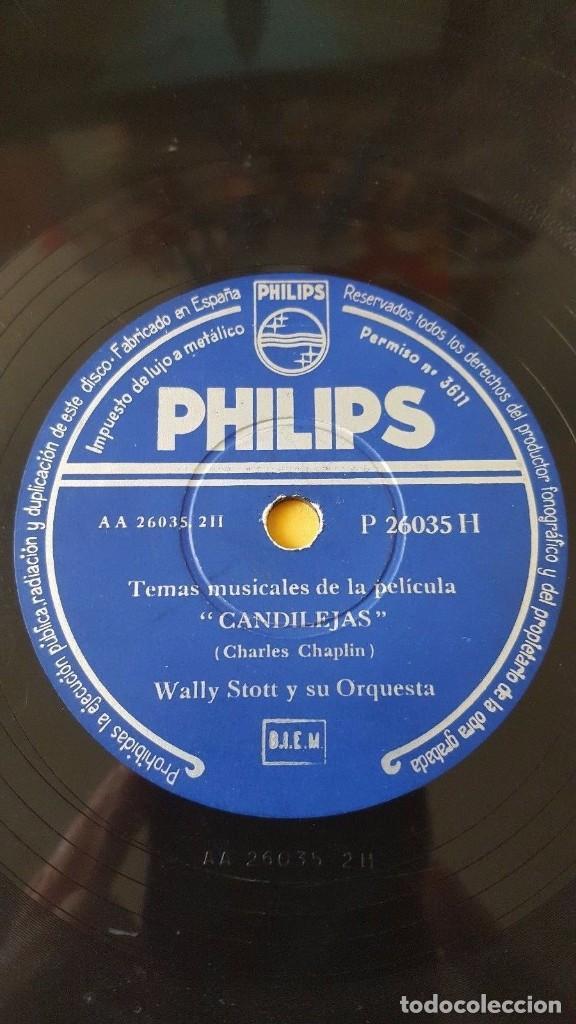 Discos de pizarra: DISCO 78 RPM - PHILIPS - WALLY STOTT - ORQUESTA - FILM CHARLES CHAPLIN - CANDILEJAS - PIZARRA - Foto 2 - 147138350