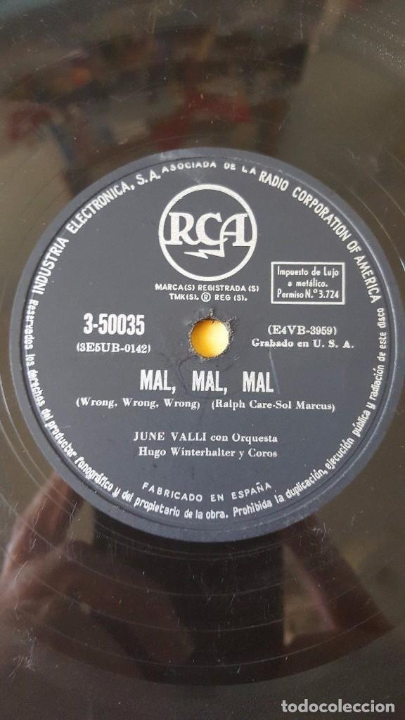 Discos de pizarra: DISCO 78 RPM - RCA - JUNE VALLI - ORQUESTA - TIEMPO SABROSO - MAL, MAL, MAL - AMERICANO - PIZARRA - Foto 2 - 147145126